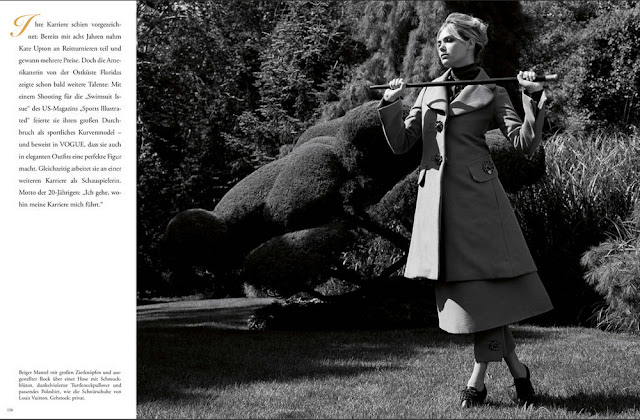 Kate Upton by Bruce Weber for Vogue Germany January 2013
