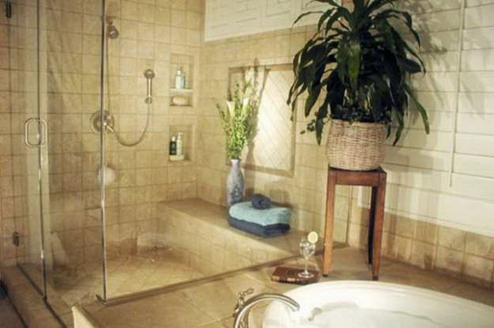 Bathroom Interior Ideas With Flowers And Plants