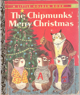 Little Golden Book, Chimpmunks' Christmas , Richard Scarry