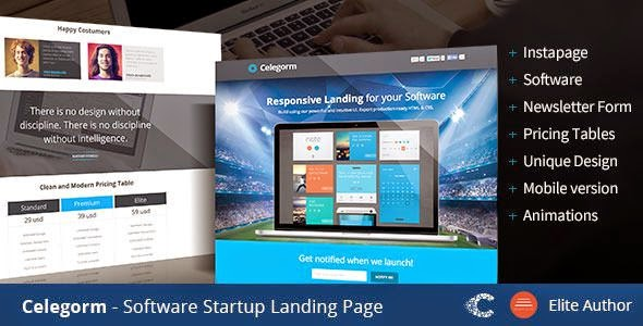 Celegorm Good App Landing Page Template