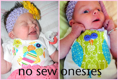 No Sew Baby Onsie Applique
