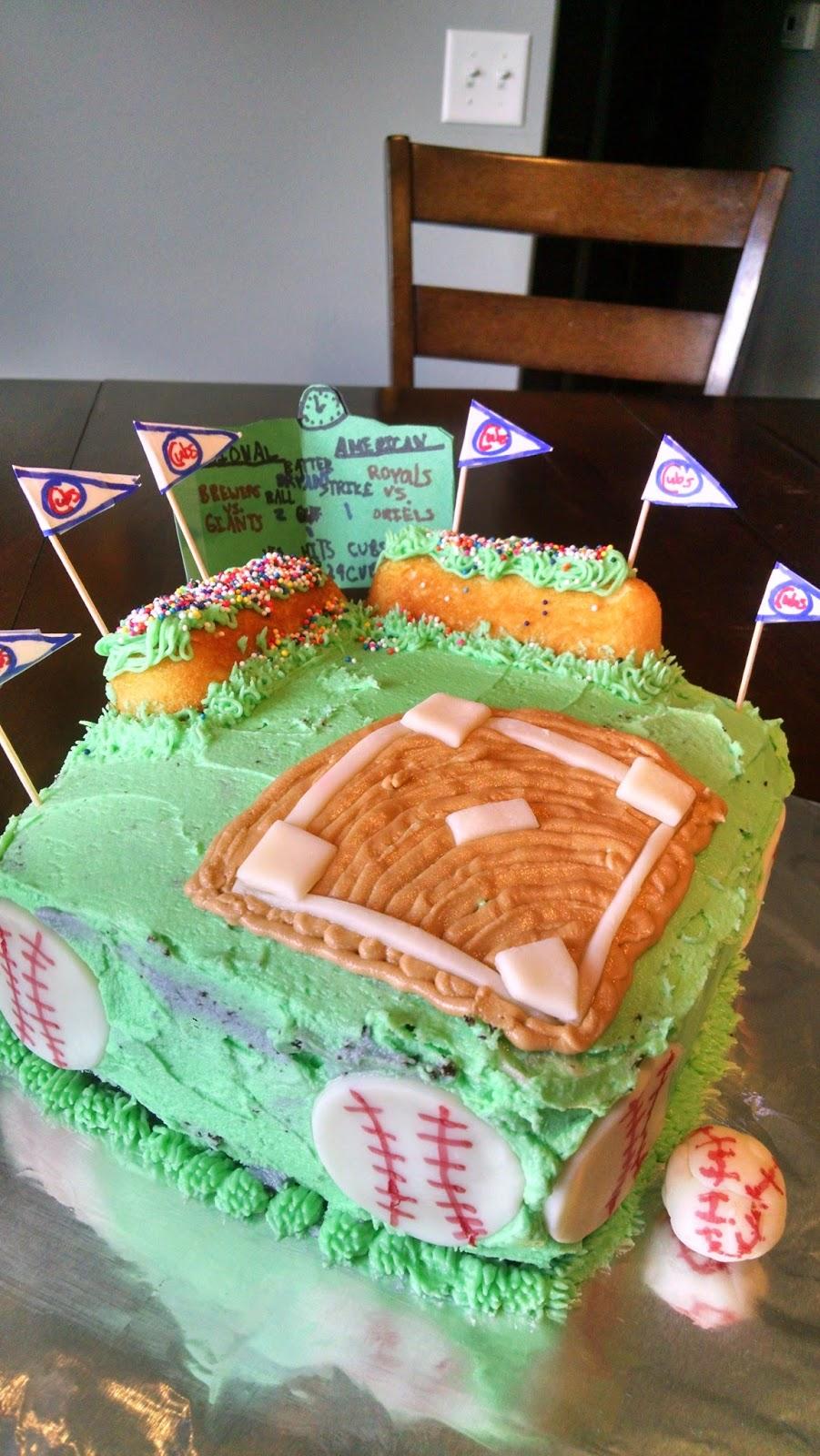 The Epicurean Explorer A Cubs Birthday Cake
