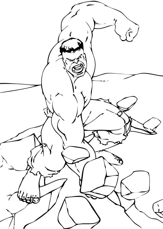 HULK The Avengers Coloring Pages
