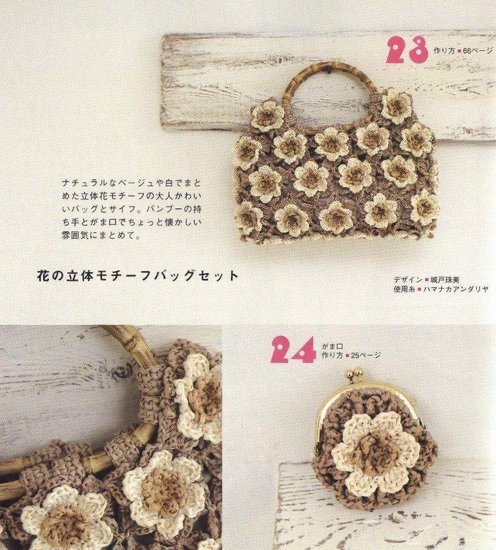 Los Tres Botones: Patrón de bolso de ganchillo para lanas y algodones
