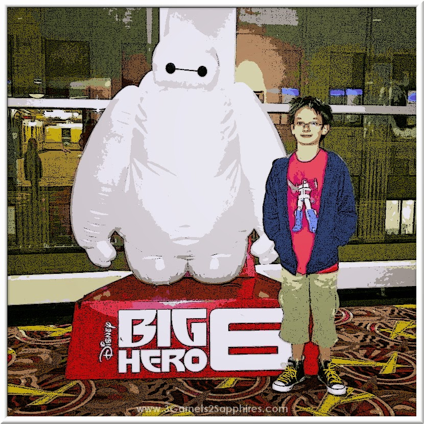 Disney Big Hero 6 Movie - Hiro with Baymax at Advanced Screening  |  www.3Garnets2Sapphires.com