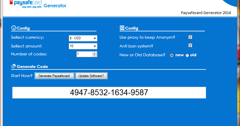 paysafecard generator download free