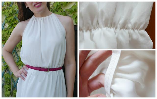 Cintura de goma para vestido de verano