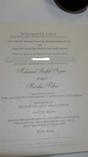 Marsha Milan Kahwin 8 Januari Depan