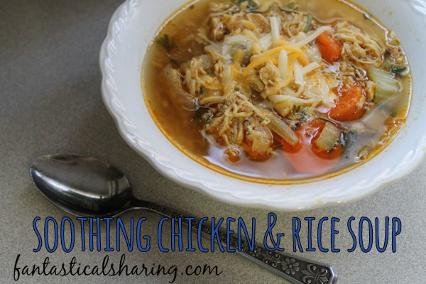 Soothing Chicken and Rice Soup | Whether it's to warm you up after a chilly day or nurture someone feeling under the weather, this chicken soup is a lovely alternative to chicken noodle soup! #recipe #soup