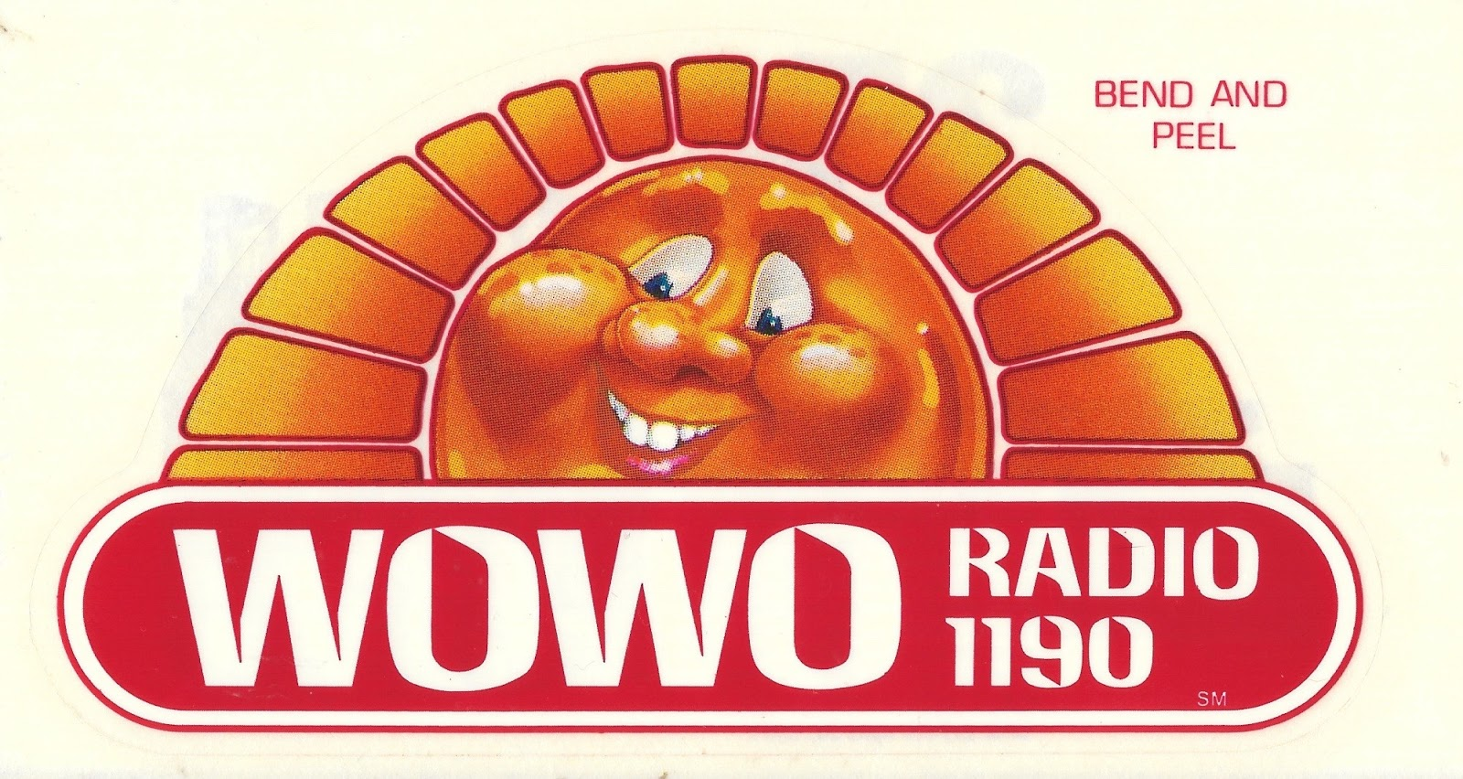 A 1984 Sticker From 1190 WOWO In Fort Wayne Indiana At That Time They Were Top 40 Outlet But Currently Carry News Talk Format