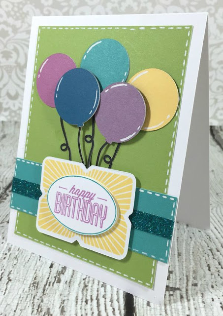 Cricut Artistry Birthday Balloons card