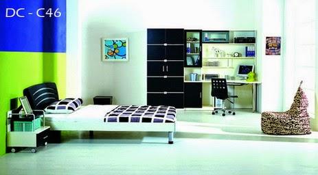 desain interior kamar anak muda cewek cowok terbaik 2014