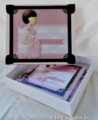 Caixa Decorada para o Diário de Gravidez