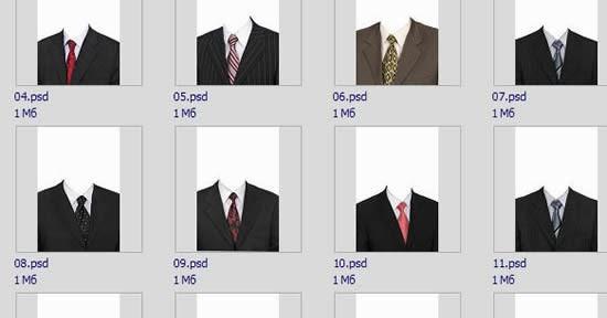 men clothing psd template