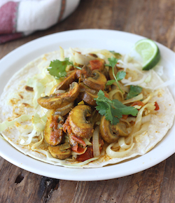 mushroom masala and sweet onion wrap recipe