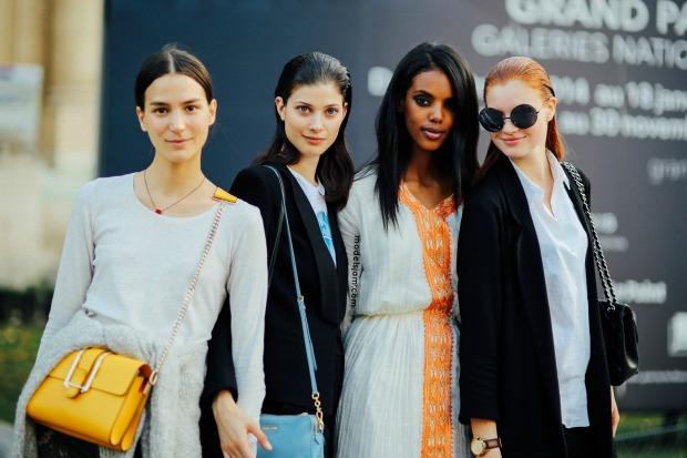 Mijo, Larissa, Grace and Anastasia in Paris