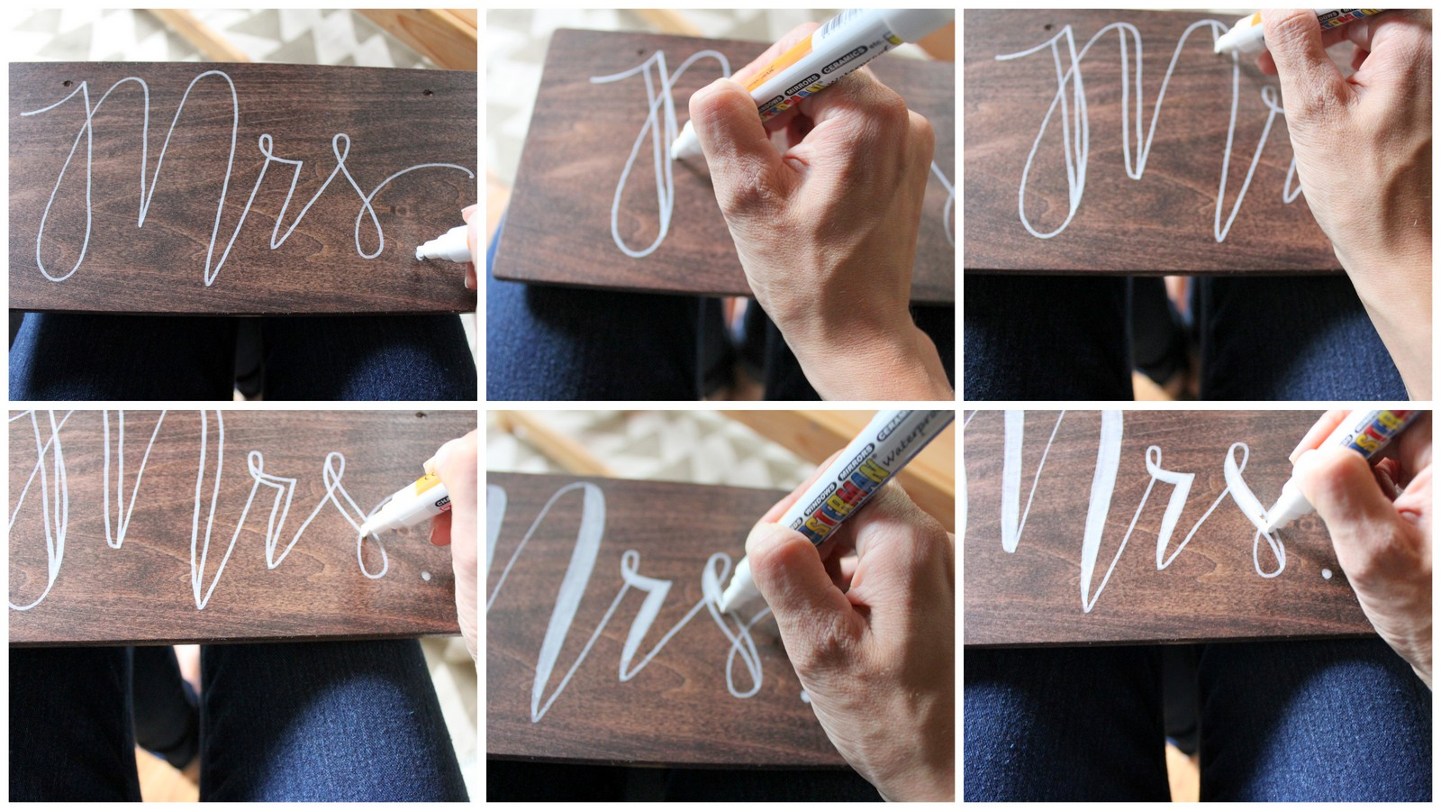 Dream State How To Make Rustic Mr Mrs Wedding Chair Signs