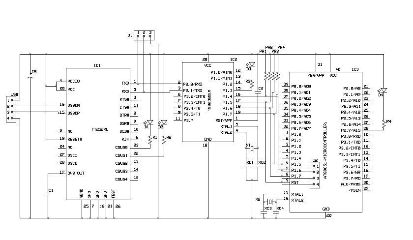 engineering projects at89s52 usb programmer circuit diagram 8051 programmer
