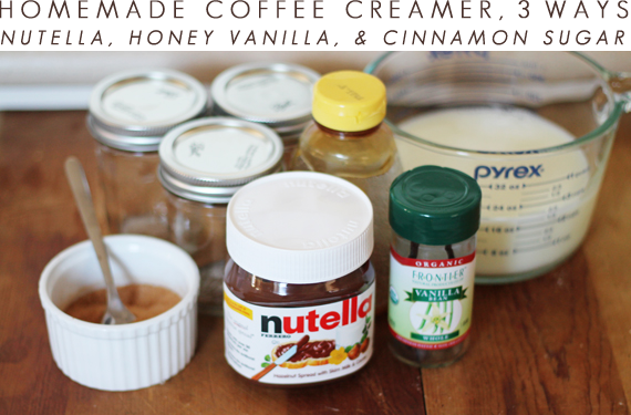 how to make homemade coffee creamer with milk