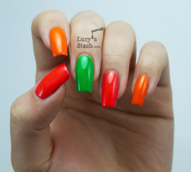 Lucy's Stash - Nicole by OPI Notorious! Neons set