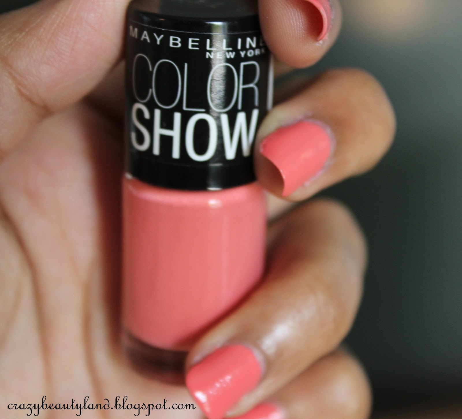 Maybelline Color Show Nail Polish in Coral Craze (211) - Review ...