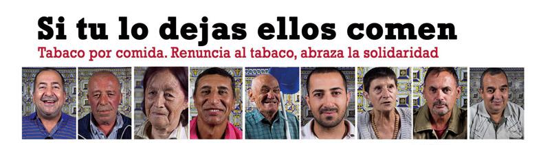 Campaña solidaria contra el tabaco.