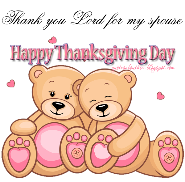 Happy thanksgiving day card for spouse