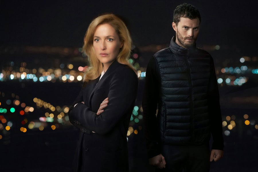 The Fall - TX: n/a - Episode: n/a (No. n/a) - Picture Shows:  DSI Stella Gibson (GILLIAN ANDERSON), Paul Spector (JAMIE DORNAN)  - (C) The Fall 2 L