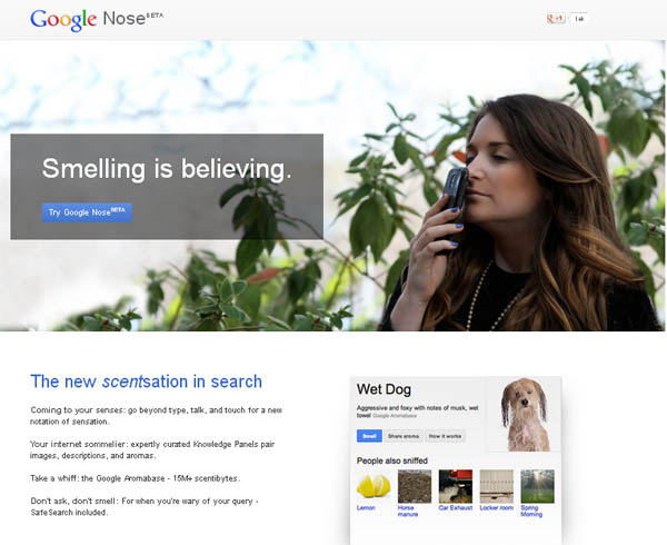 Google Nose - Smelling is Believing