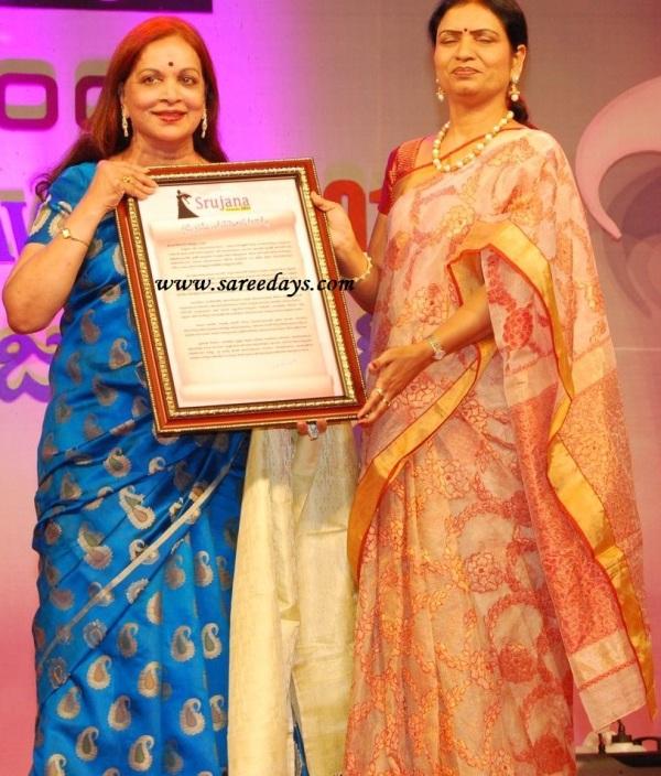 Latest saree designs vijayanirmala and dk aruna in designer sarees vijayanirmala and dk aruna in designer sarees altavistaventures Images