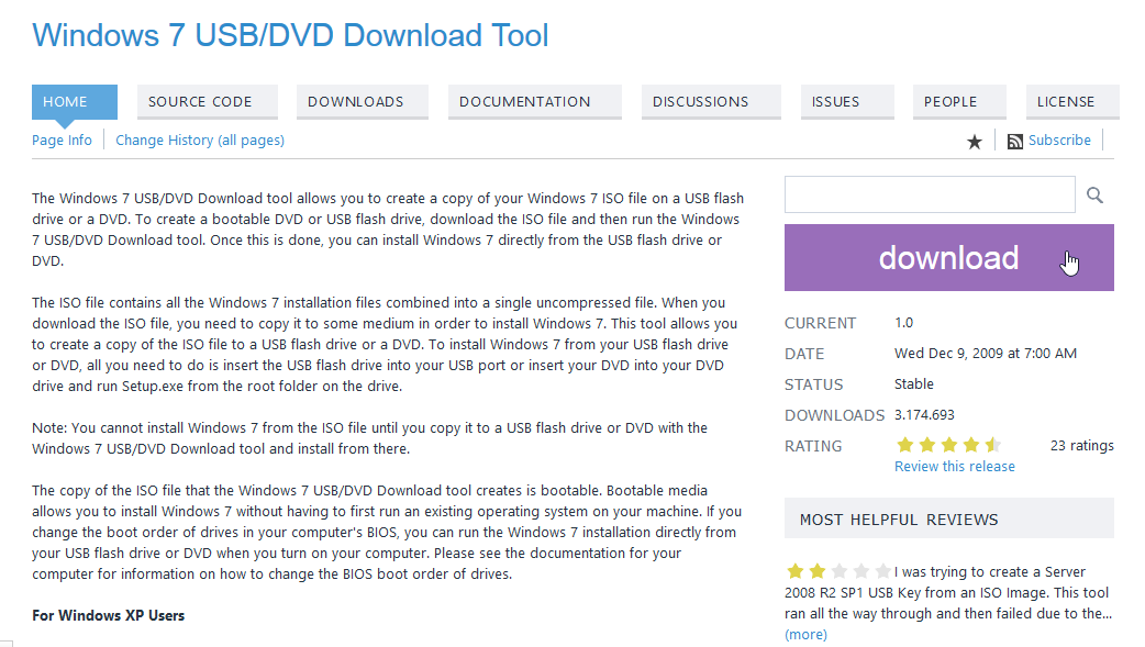 USB de Instalación de Windows 10 - Tool