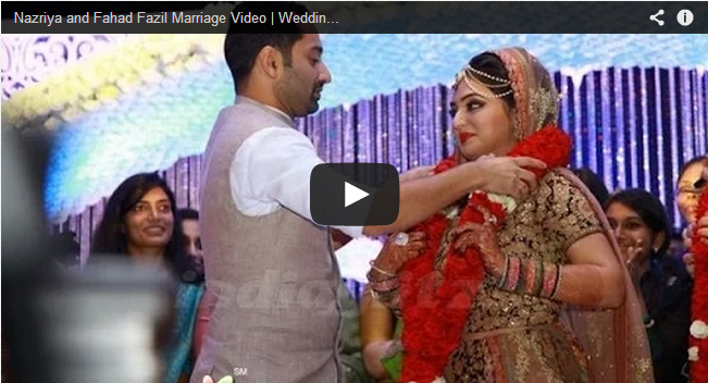 Nazriya Nazim Marriage Video