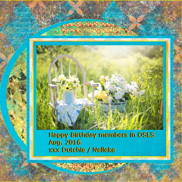 Aug.2016 - Happy birthday members