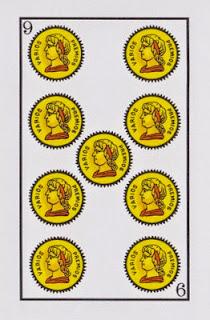 nueve de oros baraja española