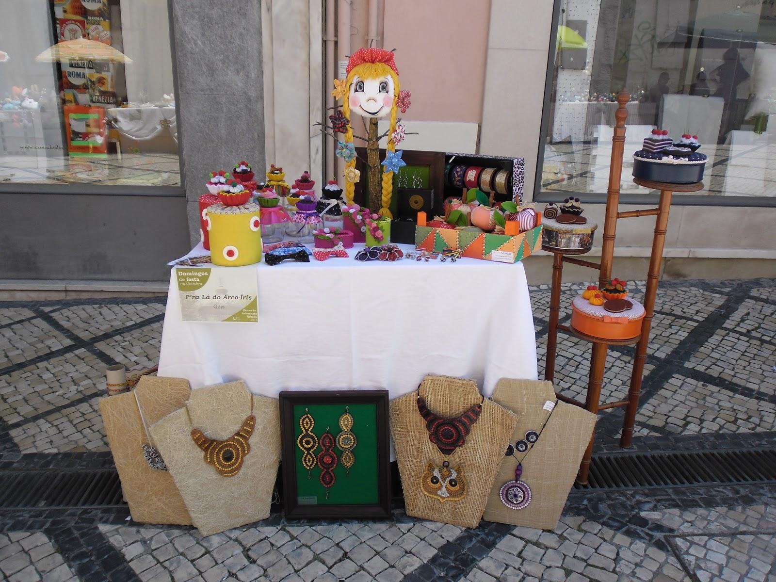 Feira Artesanato Urbano Coimbra ~ P'ra lá do Arco u00cdris Feira de Artesanato Urbano em Coimbra