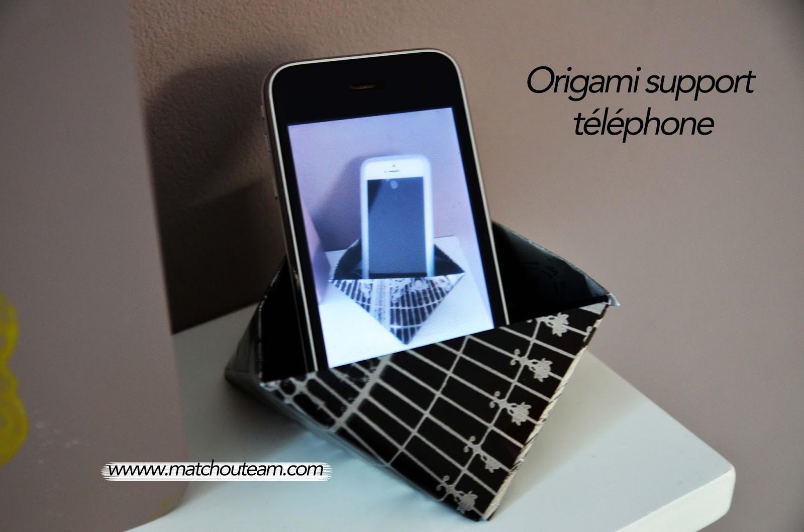 origami support téléphone