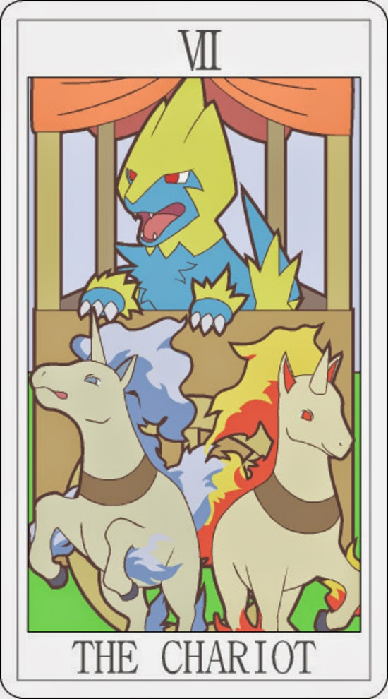 Pokemon Tarot - The Chariot