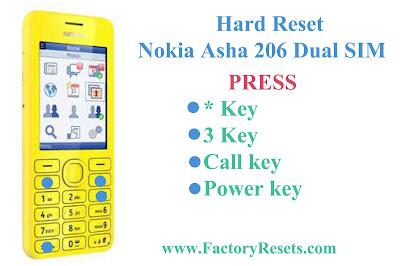 Hard Reset Nokia Asha 206 Dual SIM