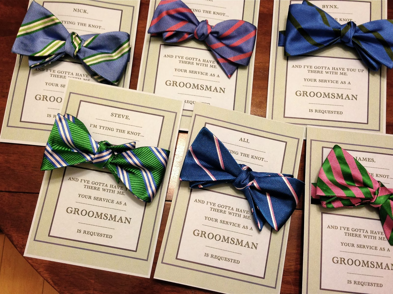 saturday and sundae preppy groomsmen invitations