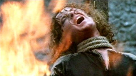 Heksebrænding fra filmen Nostradamus, 1994