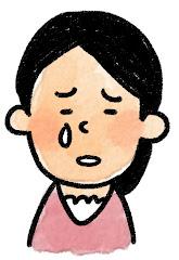 女性の表情のイラスト(泣き)