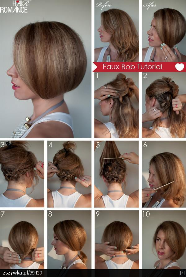 Hairstyles You Can Do With Bangs : Secrets into my heart: Z d?ugich kr?tkie czyli Faux Bob