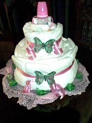 Torta Mariposa de Pañales