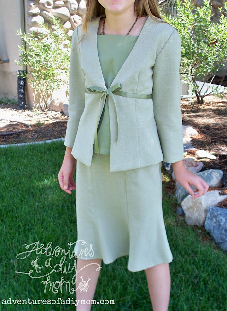 Girls Suit Jacket and Skirt