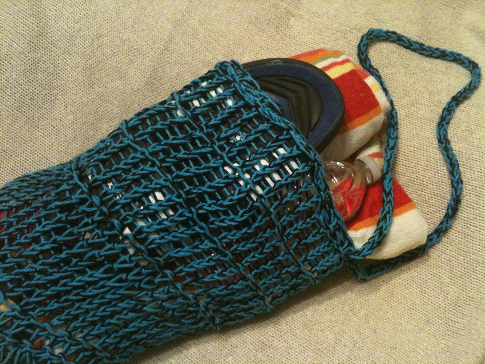 GoodKnit Kisses: Pattern and Video Tutorial: Loom Knit Mesh Bag