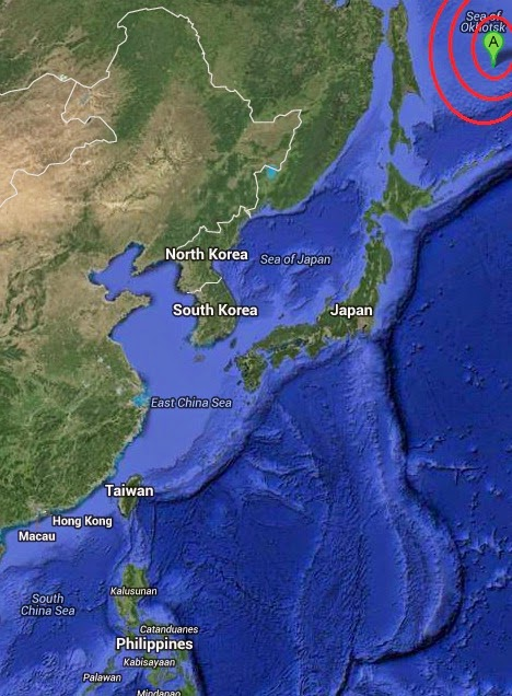 Magnituae 5.4 Earthquake of Vostok, Russia 2014-09-18