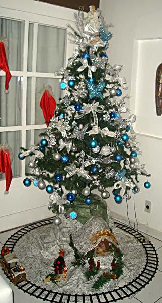 decoracao de arvore de natal azul e prata : decoracao de arvore de natal azul e prata: enviaram suas criações! São super legais e interessantes, vejam