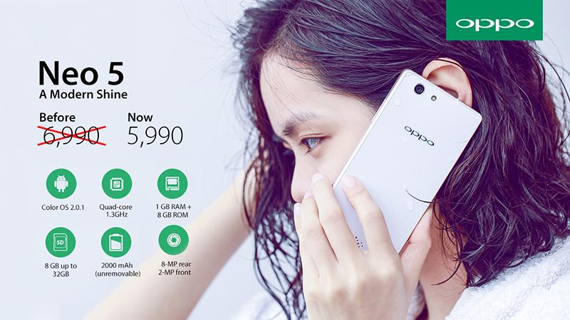 Oppo Neo 5 Price Cut 5990 Pesos