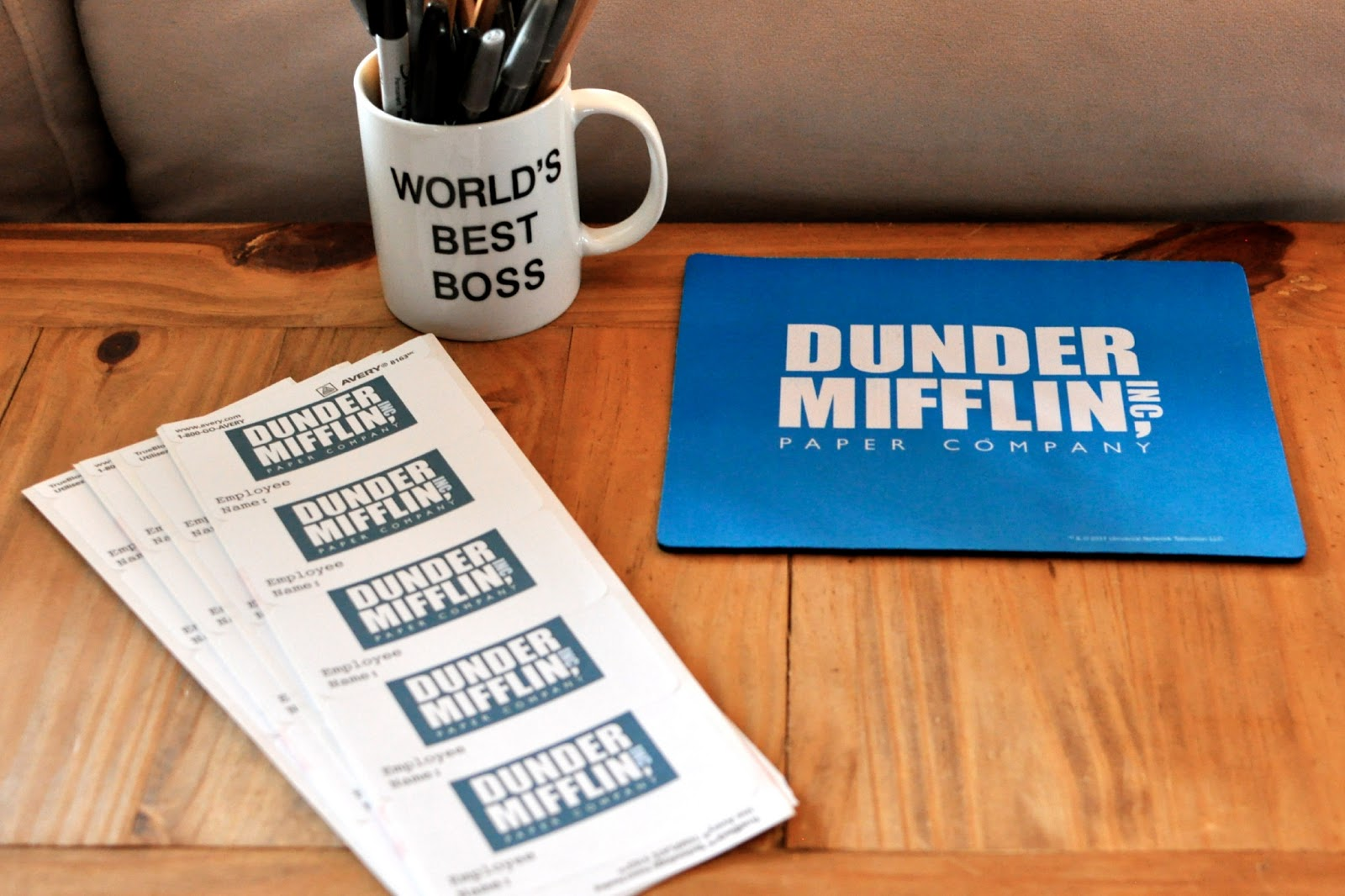 graphic regarding Dunder Mifflin Name Tag Printable called The Place of work\