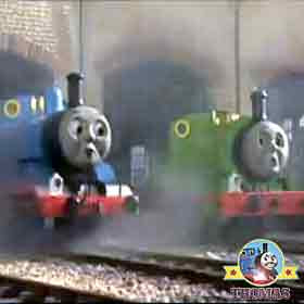 Thomas and friends Percy the small engine and Thomas the tank engine happy Birthday party picnic